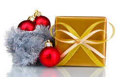 Beautiful bright gift and Christmas decoration Royalty Free Stock Photos