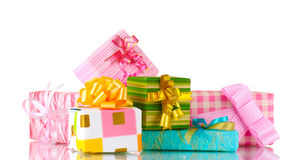 Beautiful bright gifts Stock Images
