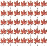 Beautiful bright graphic artistic autumn light brown sienna maple leaves pattern. Watercolor hand illustration Stock Images