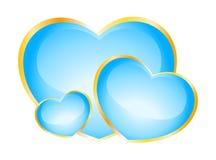 Beautiful bright hearts Stock Image