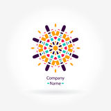 Beautiful bright juicy circular company logo. Kaleidoscope flower. Mandala logo. Stock Images