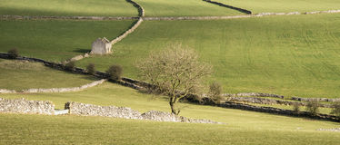 Beautiful bright landscape image of Peak District on sunny Spring Royalty Free Stock Image