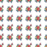 Beautiful bright lovely colorful tropical hawaii floral herbal summer pattern of tropical flowers and red pink green yellow blue p. Urple tropical butterflies royalty free illustration