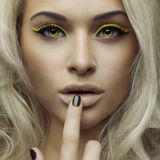 Beautiful bright makeup Royalty Free Stock Images