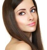 Beautiful bright makeup woman Stock Photography