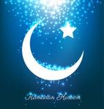 Beautiful bright moon and stars for ramadan festival Royalty Free Stock Image