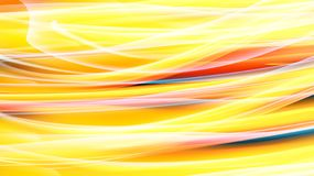 Beautiful bright motley yellow orange abstract energy magical cosmic fiery neon wall of lines and stripes, waves, flames royalty free illustration