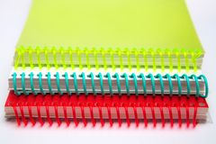 Beautiful bright multi-colored pads on a white background stock image