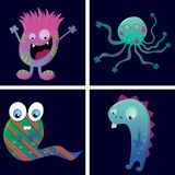 Cards with monsters. stock illustration