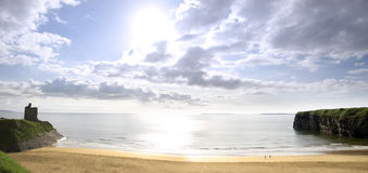 Beautiful bright sun over the Ballybunion beach Royalty Free Stock Photos