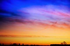 Sunrise in rural terrain. Beautiful bright sunrise at matutinal length of time in rural terrain Royalty Free Stock Photos