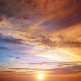 Beautiful bright sunset Stock Photography