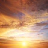 Beautiful bright sunset. Royalty Free Stock Photos
