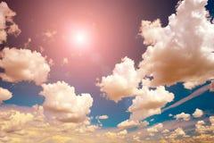 Beautiful bright sunset. Stock Photo