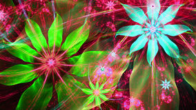 Beautiful bright vivid modern flower background in pink,cyan,green colors Stock Photography