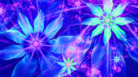 Beautiful bright vivid modern flower background in shining blue and pink colors. Beautiful modern high resolution flower background with a detailed flower Stock Photo