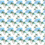 Beautiful bright wonderful abstract cute green tropical lovely wonderful hawaii floral herbal summer pattern of a palm trees and s Royalty Free Stock Image