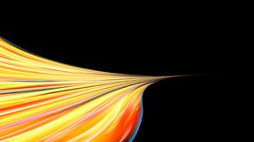 Beautiful bright yellow orange abstract energetic magical cosmic fiery texture of lines and stripes, waves, flames with twists. Turns turning into infinity on a vector illustration