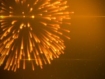 Beautiful Brightly Gold Fireworks with Particles. Luxury Background Design Element Royalty Free Stock Image