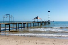The beautiful Brighton Jetty on a sunny day with blue sky in Sou. Th Australia on 13th September 2018 royalty free stock photos