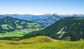 Beautiful Brixen Valley and Kitzbuhel Alps, Austria Stock Photo