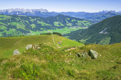 Beautiful Brixen Valley and Kitzbuhel Alps, Austria Royalty Free Stock Images
