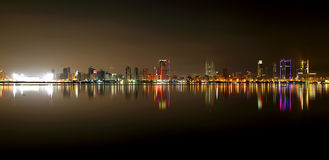 Beautiful broad view of Bahrain Skyline Royalty Free Stock Images