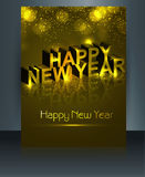 Beautiful brochure happy new year template  Royalty Free Stock Image