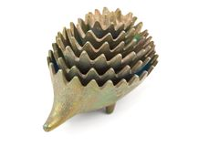 Beautiful bronze hedgehog Stock Photos