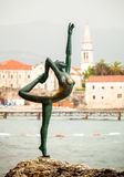 Beautiful bronze monument symbol of city Budva, Montenegro Royalty Free Stock Photo