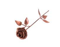 Beautiful bronze rose. Royalty Free Stock Photo