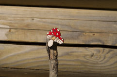 Beautiful brooch mushroom handmade jewelry Royalty Free Stock Photos