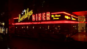 Beautiful Brooklyn Diner New York USA cityscapes stock video footage