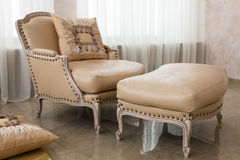 Beautiful brown armchair Royalty Free Stock Images