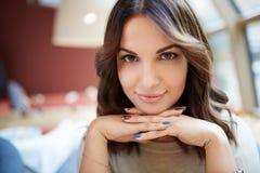 Beautiful brown eyes Stock Images