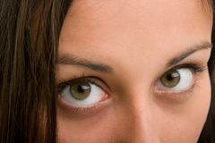 Beautiful Brown Eyes Looking a Royalty Free Stock Photos