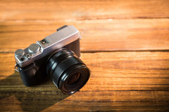 A beautiful brown fashioned camera Royalty Free Stock Photos