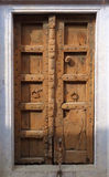Beautiful Brown Indian Wood Door Royalty Free Stock Images