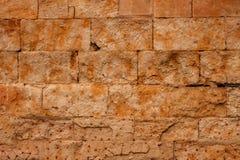 Beautiful brown wall with rectangular stones Stock Image