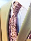 Beautiful brown wedding tuxedo royalty free stock photo