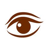 Beautiful brown women`s eye vector icon Royalty Free Stock Photography
