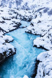 Beautiful Bruarfoss waterfall in Iceland Royalty Free Stock Image