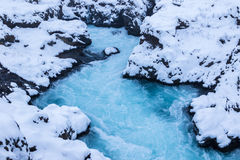Beautiful Bruarfoss waterfall in Iceland Stock Image