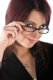 Beautiful Bruinette with glasses Stock Photos