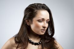 Beautiful brunette Royalty Free Stock Photography