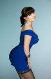 The beautiful brunette Stock Photo