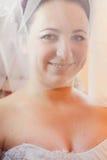 Beautiful brunette bride Stock Photo