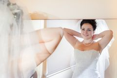 Beautiful brunette bride Royalty Free Stock Photos