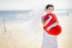 Beautiful brunette bride Stock Image