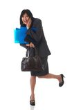 Beautiful brunette businesswoman Stock Image